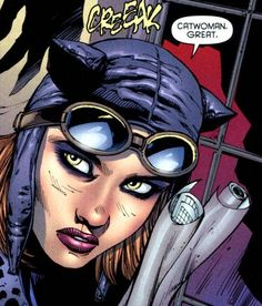 """Kitrina Falcone is the niece of Mario Falcone. Mario abused Kitrina mentally and physically due to her uniqueness. """"Kittyhawk"""" became Catgirl, Catwoman's sidekick, after befriending Selina Kyle. Comic Reviews, Catgirl, Catwoman, Comic Art, Dc Comics, Vines, Halloween Face Makeup, Movie Posters, Pictures"""