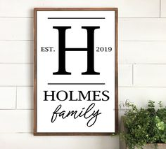 Family Name Painted Wood Sign | Wood sign | Wedding gift | Distressed Rustic wood sign| Farmhouse decor | Fixer Upper | Family Monogram