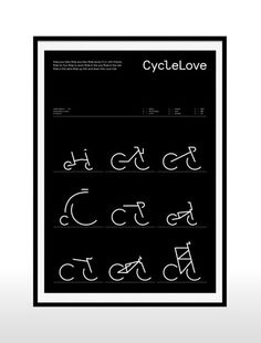 CycleLove: Enjoy the ride with this iconic print!
