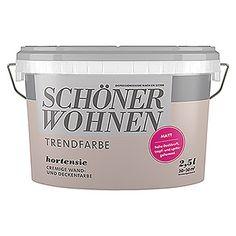 Schoner Wohnen Wandfarbe Trendfarbe Hortensie 2 5 L Matt Schoner Wohnen Wandfarbe Wandfarbe Schoner Wohnen