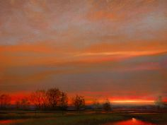 """A truly remarkable piece - next best thing to smelling the air yourself! """"Maple Ridge, Dusk"""" - Study, by Renato Muccillo"""