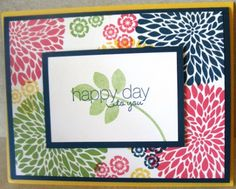 Handmade card using Stampin' Up!'s Betsy's Blossoms & Friendly Phrases stamp sets.