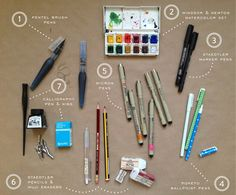 Oh So Beautiful Paper: Swiss Cottage Designs: A Peek at Our Process | Illustration tools to try - Website