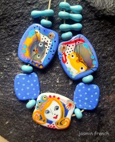jasmin french ' rainy summer day ' lampwork tale by jasminfrench