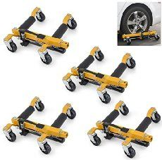 "ARKSEN© 9"" Vehicle Positioning Hydraulic Jacks, Tire Dolly, 4-PC"
