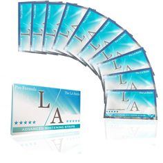The La Smile Advanced Whitening Strips - #LaWhiteningStripsX10Packs