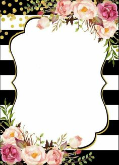 Ideas for wall paper floral printable Flower Backgrounds, Flower Wallpaper, Wallpaper Backgrounds, Iphone Wallpaper, Wallpaper Borders, Borders For Paper, Borders And Frames, Invitation Background, Invitation Cards