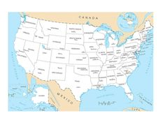 Map Of Usa Without Names usa states and capitals map us map with state capitals map usa HD 894 X 600 pixels 50 States Of Usa, United States Map, U.s. States, Us State Map, Us Map, North Carolina, North Dakota, Tennessee, Canada