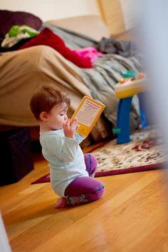 My niece is a budding bookworm.  <3