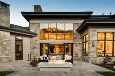 This beautiful mansion features our Merrillstone - Sawtelle natural stone veneer.