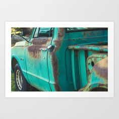 Old Chevy Art Print by Kayla Milam - $20.00