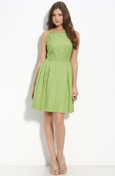 Taylor Dresses 'Tree Bark' Jacquard Dress