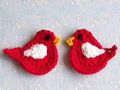 Crochet Love Bird Appliques - via Etsy.