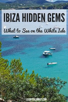 From secret beaches to boho boutiques, there are lots of Ibiza hidden gems. Portinatx, Santa Eulalia, Puerto de San Miguel and Port des Torrent are Ibiza Europe Travel Guide, Spain Travel, Portugal Travel, Travel Guides, Places To Travel, Travel Destinations, Places To Visit, Ibiza Hotel, Ibiza Travel