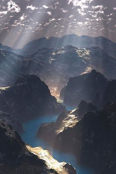 Sunrays in the Mountains