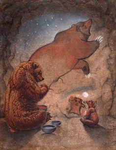 Big Bear Little Bear Hillary Luetkemeyer Spirit Bear, Spirit Animal, Love Bear, Big Bear, Potnia Theron, Wallpaper Fofos, Bear Totem, Brother Bear, Arte Disney