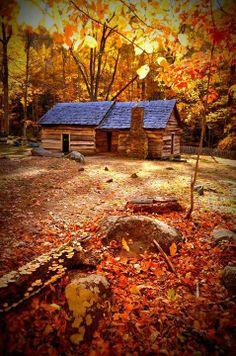 Smoky Mountain Cabin In Fall