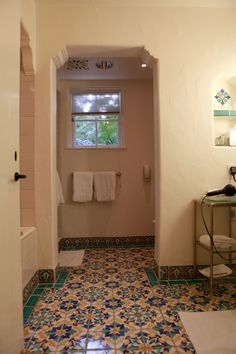 Thomas bollay remodel of a biltmore santa barbara for Spanish colonial bathroom design