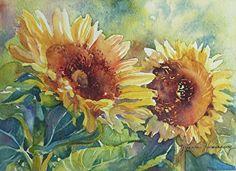 Sunflowers Watercolor Painting, Original Fine Art Painting of yellow sunflowers, Floral Painting for Watercolor Sunflower, Watercolor Flowers, Watercolor Paintings, Original Paintings, Tulip Painting, Lovers Art, Fine Art, Artwork, Sunflowers