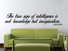 Albert Einstein Imagination Quote New Vinyl Wall Decal by LabZosos