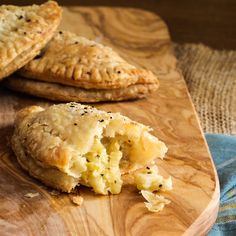 Vegetarian Cornish Pasties - Flakey Cornish Pasties filled with creamy celery root, potatoes, leeks and pickled apples just in time for St. Patrick's Day! Vegetarian Pasties, Vegetarian Appetizers, Vegetarian Recipes, Veggie Recipes, Vegetarian Dinners, Vegan Meals, Potato Recipes, Vegan Food, Vegetables