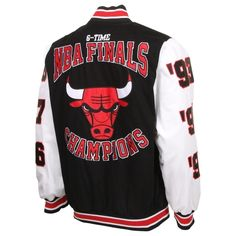 Chicago Bulls 6X NBA Finals Champs High Point Commemorative Full Button  Jacket - Black White b6afe518b51
