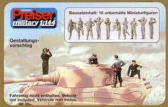 Panzerbesatzung Deutsches Reich 1939-45 - Preiser - 1/144 German tank crew in 1/144