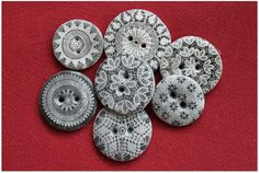 Buttons made of polymer clay
