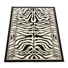 Animal Print Rug White Modern Bedroom Living Room Machine Woven Warm Winter Uk