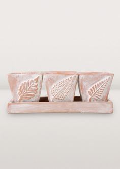 Spring is coming soon (we promise!) and we can't wait to start growing and planting! These beautiful planters are on sale now so get them before they're gone! | Herb Planter Trio | $14.99 (orig. $24)