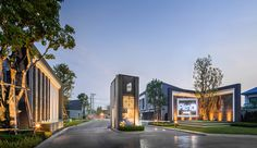 泰国pleno别墅景观 by JEDT studio -mooool设计 Front Gates, Entrance Gates, Main Entrance, Grand Entrance, Entrance Signage, Modern Entrance, Main Gate Design, Entrance Design, Gate Way