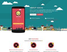 "Check out new work on our @Behance portfolio: ""Web design for social chatting app portfolio"" http://be.net/gallery/58159075/Web-design-for-social-chatting-app-portfolio"