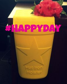 3/20/14 Happy International Happiness Day! Nothing makes us more happy than this yellow Deluxe Hot Iron Holster. #HappyDay