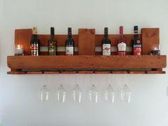 Weinregal,+Flaschenregal,+in+Mahagoni+lasiert+!!!+von+Shabby-Palettenmoebel+auf+DaWanda.com