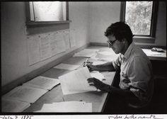 Peter Matthiessen, photographed at his desk by Jill Krementz, 1975.