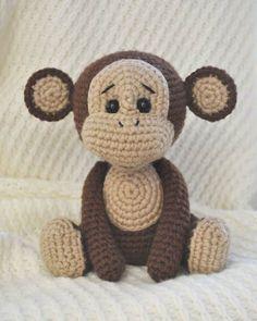 Padrão amigurumi do macaco impertinente grátis