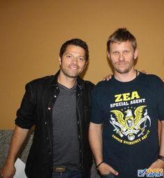 Misha Collins and Mark Pellegrino (posted by @SupernaturalMyL)