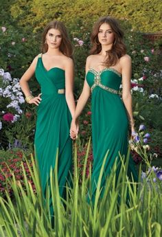 One Shoulder Rhinestone Trim Dress from Camille La Vie and Group USA