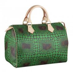 Louis Vuitton Yayoi Kusama Monogram Town Speedy 30 Green M40694