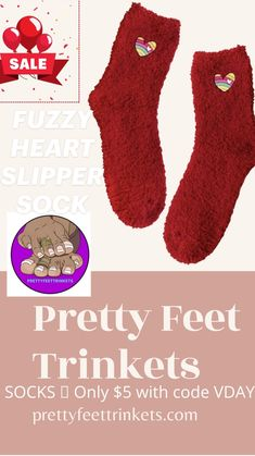 Bootie Socks, Slipper Socks, Slippers, Sock Ankle Boots, Ankle Heels, Over Knee Socks, Booties Outfit, Heart Nails, Cute Boots