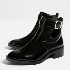 Image 5 de BOTTINES PLATES OUVERTES de Zara Ouvert, Chaussures Femme,  Bottines Plates, c07c80a33421