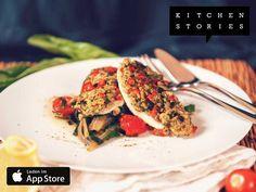 Ich koche gerade Steinbutt à la Bordelaise auf Mangold mit @1KitchenStories - Lade dir die App über http://getkitchenstories.com herunter