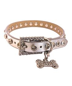 Look at this DESIGNED IN LA Silver Rhinestone Dog Collar on #zulily today!