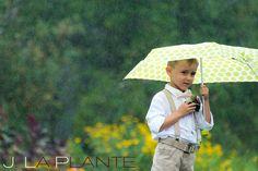 J. La Plante Photo | Destination Wedding Photography | Ogunquit Maine Wedding | Ring bearer with umbrella