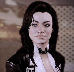 Miranda Lawson from the Mass Effect series (Black hair, light skin, blue eyes, curvy figure. God Yes! Mass Effect 2 Miranda, Mass Effect 1, Miranda Lawson, Mass Effect 3 Characters, Female Characters, Fantasy Characters, The Lazarus Project, Kaidan Alenko, Princess Jellyfish