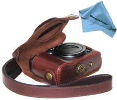 """MegaGear """"Ever Ready"""" Protective Dark Brown Leather Camera Case, Bag for Canon PowerShot G16 - For Sale"""