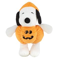 Your dog can wait for the Great Pumpkin with a Peanuts® Pumpkin Snoopy Dog Toy - PetSmart $4.79