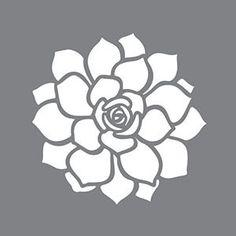 "6"" x 6"" Succulent, Stencil, Americana Decor by VCraftSupply on Etsy https://www.etsy.com/listing/490941172/6-x-6-succulent-stencil-americana-decor"