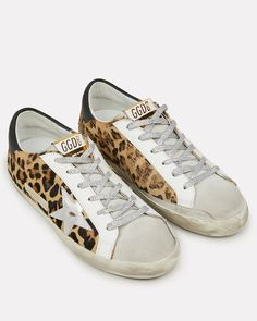 Low Top Sneakers, Leopard Sneakers, Golden Goose, Signature Logo, Back To Black, Cute Shoes, Street Style Women, Fashion Shoes, Fashion Accessories