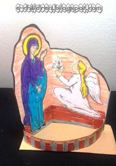 ΕΥΑΓΓΕΛΙΣΜΟΣ ΤΗΣ ΘΕΟΤΟΚΟΥ ~ Los Niños Crafts For Kids, Arts And Crafts, Catholic Crafts, Spring Activities, Princess Zelda, Disney Princess, Spring Crafts, Craft Patterns, Communion